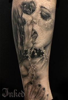 Realistic piece by Anam Q #InkedMagazine #blackandgrey #tattoo #tattoos #Inked #ink #art