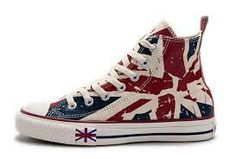 Discover the Blue CONVERSE British Flag Print All Star Beige Red Canvas  London Shoes Online 238100 group at Pumaslides. Shop Blue CONVERSE British  Flag ... 423ef62cce