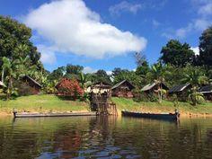 Danpaati River Lodge ~ Suriname  Photo Credit : Robert Porte  #suriname #popularplaces #caribbean #beautiful #amazing #travel #places #nature #landscape #beautifuldestinations #beauti fulplaces #bestplacetogo #destinations #populardestinations #naturelover #rainforest #jungle #amazone #southamerica