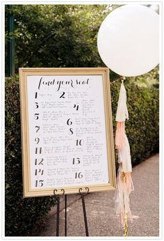 escort card frame