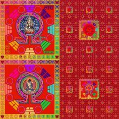 Om Reiki Lilis Raais Venus Carpet Mandala