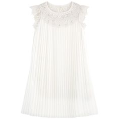 Polyester voile Synthetic lace Jersey lining Light item Flared hem Crew neck Raindrop opening in the neck Flutter sleeves Button in the neck Fancy lace Fancy rhinestones Pleated effect - $ 71