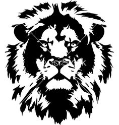 Lion hed in format on VectorStock