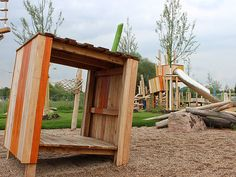 Playgrounds-should-not-be-flat means firstly utilizing or creating an interesting ground topography, but secondly it means bending and tilting the surfaces of the constructed parts of the playground to increase their challenge and playability. One of the drawbacks of manufactured playgrounds is the sheer uniformity of their steps, platforms, and surfaces. Be inspired by Kukuk - Read the rest...