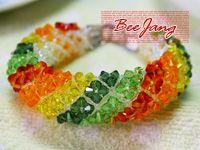BeeJang - Tutorial : Crystal Bracelet : Donut Thai Style Part 2