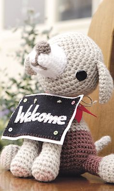 Crochet Welcome Dog!