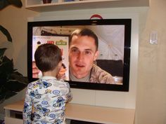 From military bases abroad to ships at sea, parents in the armed services can read to their children with a little help from the nonprofit UNITED THROUGH READING, which sends videos home.