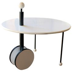 """Rare Memphis era Table """"Basse"""" by Michele de Lucchi. Italy,1980. 