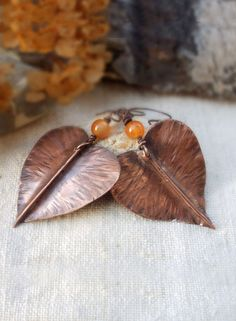 Hey, I found this really awesome Etsy listing at https://www.etsy.com/listing/219029621/leaf-earrings-hammered-copper-earrings
