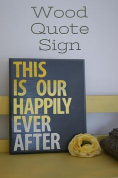 Wood Quote Sign from Mellisa of The Life of a Craft Crazed Mom ~ Diane's Vintage Zest!