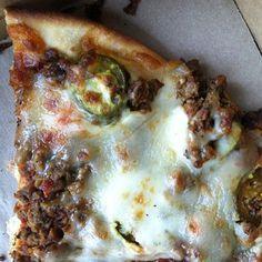 The #SpicyHot pizza is really good!! #Larosas  via Instagram user mrelijohn