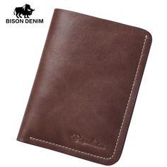 BisonDenim Men's Genuine Leather Bifold Wallets Small Wallet Case Card Holder In #BisonDenim #Bifold #leather #wallets, #men's  #purse, #wallets #for #men, #front #pocket #wallet, #mens #credit #card #wallet, #credit #card #holder #wallet