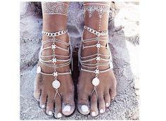 Boho Aztec Barefoot Sandals/Anklets