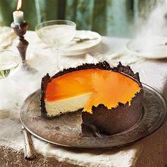 Orange mascarpone cheesecake with Oreo crust and Aperol spritz jelly Recipe | delicious. Magazine free recipes