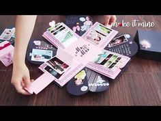 Surprise Gift Box Explosion with DIY Accessories – Presents for boyfriend diy Diy Birthday Gifts For Sister, Diy Gifts For Friends, Diy Gifts For Boyfriend, Surprise Box Gift, Diy Gift Box, Diy Box, Birthday Explosion Box, Birthday Box, Happy Birthday