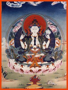 Chenrezig (Avalokiteshvara), KPC thanka