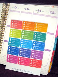 Calorie Tracker Stickers - Erin Condren Planner (4.50 USD) by EvelynsPlayhouse