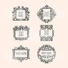A personal favorite from my Etsy shop https://www.etsy.com/listing/484189659/set-luxury-border-ornament-template