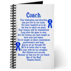 Coach Thank You Journal