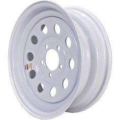 Loadstar Modular Steel Wheel (Rim), White without Stripes