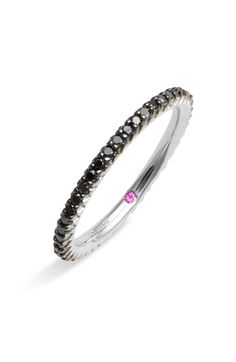 Roberto Coin 'Micropavé' Black Diamond Stackable Ring available at Nordstrom