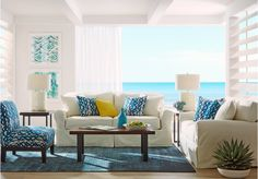 Cindy Crawford Home Beachside Natural 7 Pc Living Room   - Living Room Sets