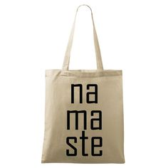 Namaste bag Yoga bag Eco-friendly printed Natural & by DrasiShop