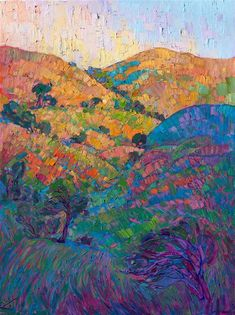 Oaken Waves - Modern Impressionism   Contemporary Landscape Oil Paintings for Sale by Erin Hanson