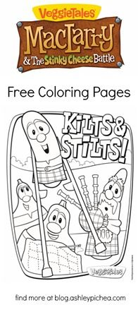 FREE #VeggieTales #Coloring Pages // MacLarry and the Stinky Cheese Battle - Life by Ashley Pichea