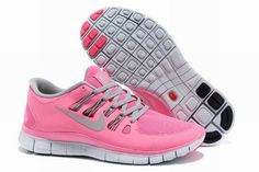 Nike Free Run+ 5.0 Women's Running Shoes Pink/Grey For Sale NFMM559--$68.80