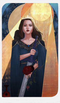 """eleonorpiteira: """" """"III. The Empress - Briana Cousland"""" Commissioned by adhdalistair! Always nice to paint a Hero of Ferelden :D """""""