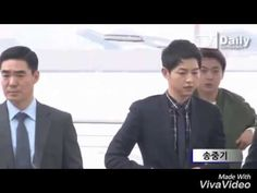 """Song Joong Ki at Incheon Airport heading to Hongkong for Fashion Show Event """"Dior Homme""""(2016.04.22) - YouTube"""