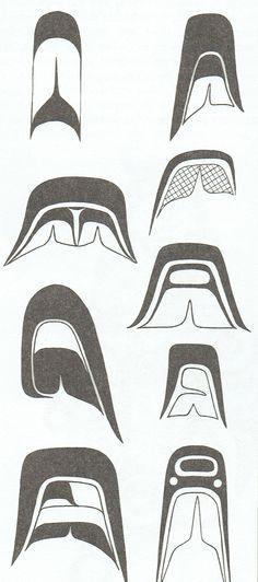 More detailed Split U design elements used in Westcoast Native Art.You can find Haida art and more on our website.More detailed Split U design elements used. Haida Kunst, Inuit Kunst, Arte Inuit, Haida Art, Inuit Art, Native Canadian, Canadian Art, Native American Art, Arte Tribal