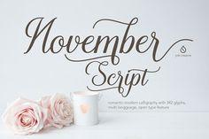 November Script by JROH Creative on @creativemarket