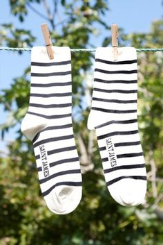 Saint James striped socks.