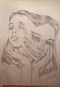 Art Drawings Sketches Simple, Pencil Art Drawings, Cool Drawings, Indie Drawings, Dark Art Illustrations, Dark Drawings, Cool Sketches, Drawing Ideas, Art Diary