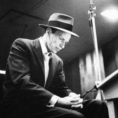 Frank Sinatra in the studio, 1954.