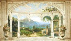 Как с помощью фрески расширить гостиную и подчеркнуть её стиль