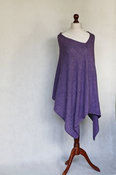 alpaca poncho knit poncho purple poncho purple by KnitwearFactory