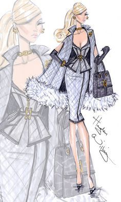 Fashion Illustration Ideas Hayden Williams for Fashion Royalty: 'It's All Business' Véronique Perrin. Character names are property of Integrity Toys. Hayden Williams, Illustration Mode, Fashion Illustration Sketches, Fashion Design Sketches, Fashion Drawings, Fashion Art, Love Fashion, Girl Fashion, Fashion Dresses