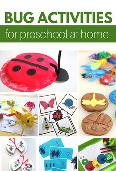 Need some fun preschool at home activities? These bug activities for preschoolers are great. There is homeschool math, science, crafts and more! home literacy activities for preschool Preschool Activities At Home, Insect Activities, Pre K Activities, Science Crafts, Bug Crafts, Toddler Learning Activities, Kids Learning, Educational Activities, Sol Y Luna Tattoo