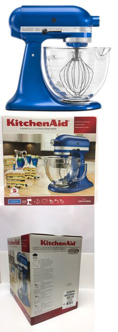 Small Kitchen Appliances: Kitchenaid New Artisan Design Series 5-Qt Tilt Head Stand Mixer With Glass Bowl -> BUY IT NOW ONLY: $322.99 on eBay!