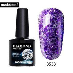 Modelones Newest Diamond Glitter UV Nail Gel Polish Hot Sale 28 Colors Glitter UV Gel Nail Varnish Shining Sequins Nail Polish