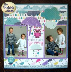 Hi crafty friends, Terri here today with a very special project to share with you. If you've seen my other DT projects you will . Puddle Jumping, Rain Go Away, Going To Rain, Dancing In The Rain, Project Yourself, Toddler Bed, Arts And Crafts, Kids Rugs, Crafty