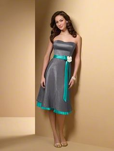 Grey and teal dress @Leigh