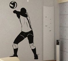 Boys Volleyball Bedroom Wall Decal From Amazon And Net From - Vinyl volleyball wall decals