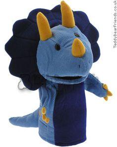 triceratops dinosaur puppet by Gund  www.teddybearfriends.co.uk