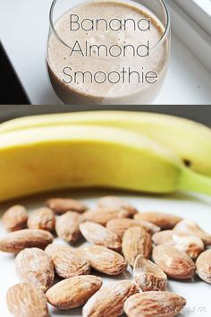 Clean eating dessert: banana almond smoothie #cleaneating #healthyrecipe
