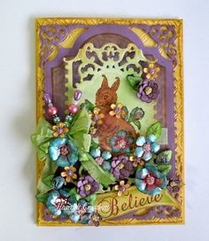 Heartfelt Creations   Brown Bunny and Posies