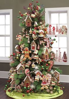 candy themed christmas tree ideas